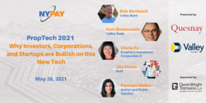 PropTech 2021--Why Investors, Corporations, and Startups are Bullish on this New Tech @ Virtual (Zoom)